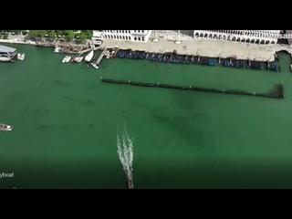 Летающая электрическая лодка в Венеции