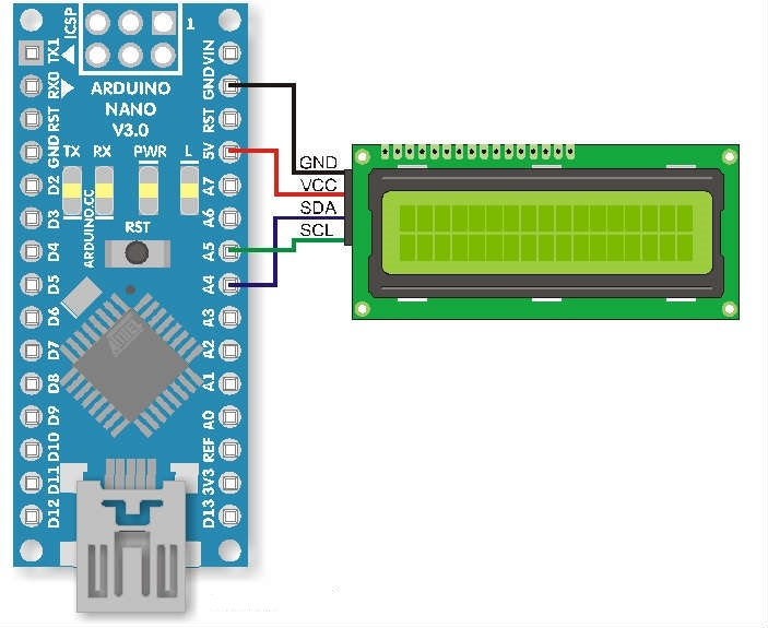 Базовый код и список функций для работы с lcd дисплеем (по шине I2C), изображение №1