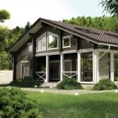 Проект дома из клееного бруса Ларго 254