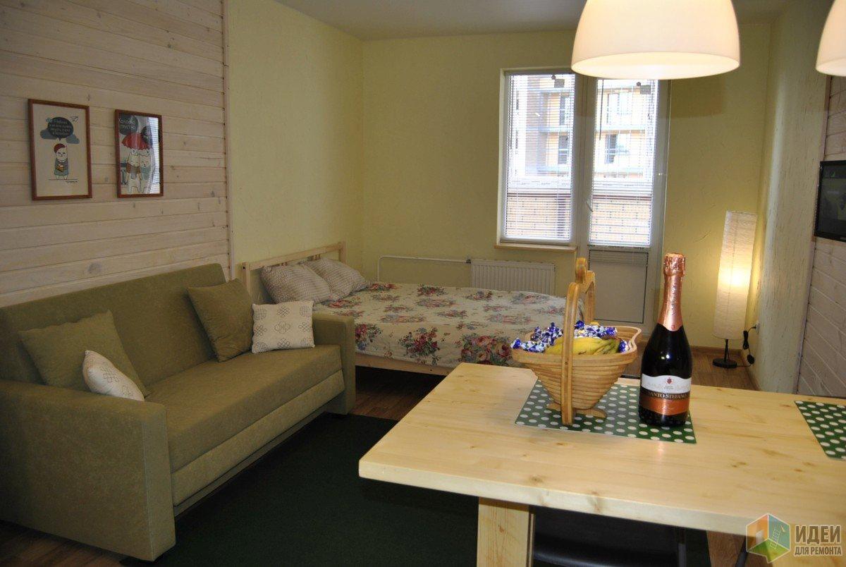 Бюджетный ремонт квартиры-студии 28 м для сдачи в аренду.