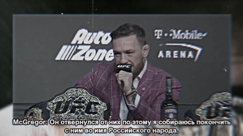 Clip preview of the battle of McGregora and Habib - on October 9.