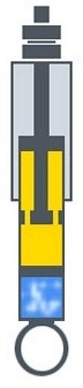 Однотрубный газовый амортизатор