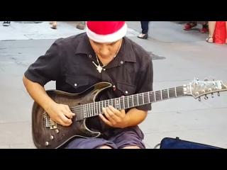 Hôtel California, par DAMIAN SALAZAR un extraordinaire jeune guitariste de rue à Buenos Aires