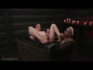 монашка провинилась и была наказана [Angel Allwood, Violet Monroe, Fisting, Strap-On, Huge Anal Toys, Kinky Lesbian]