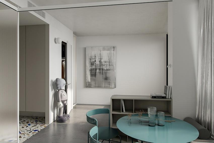 Проект квартиры-студии 31,6 м (+ лоджия).