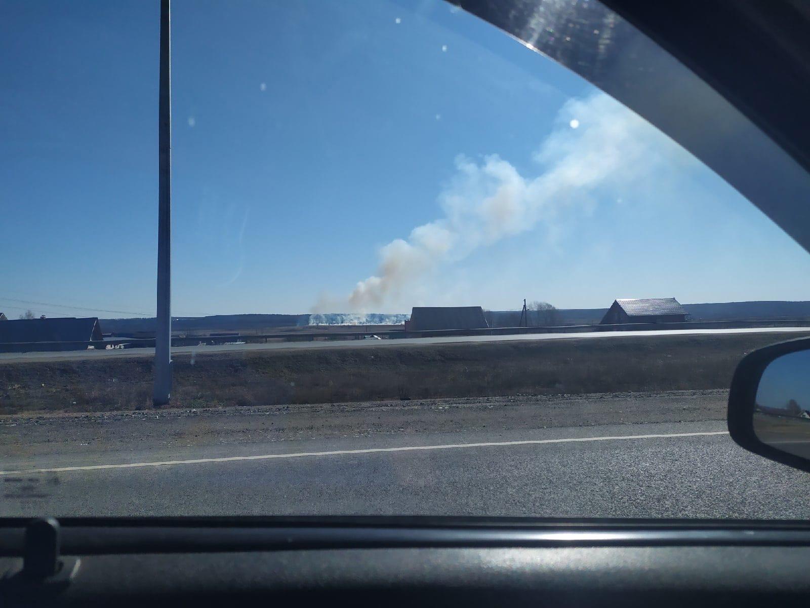 Сегодня произошло возгорание в Завьяловском районеЗа Малой