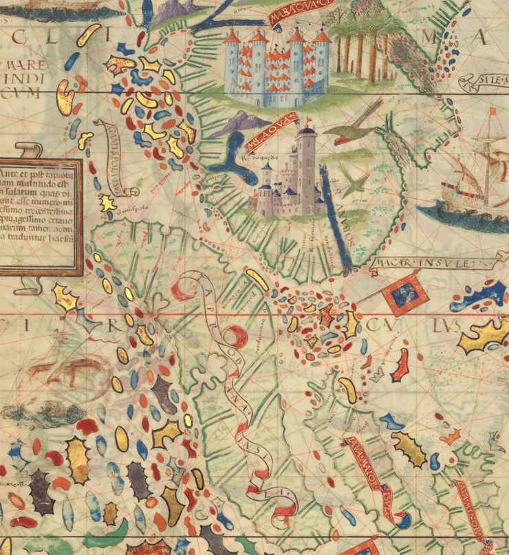 Тапробана. Фрагмент карты из Атласа Миллера (1519)