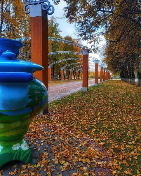 Аллея в Центральном парке ????  Фото: elisavetka_tula Тула