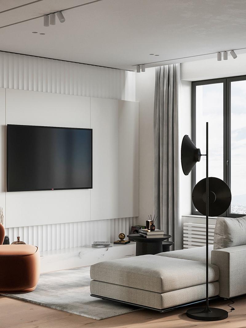 Концепт квартиры-студии 40 кв.