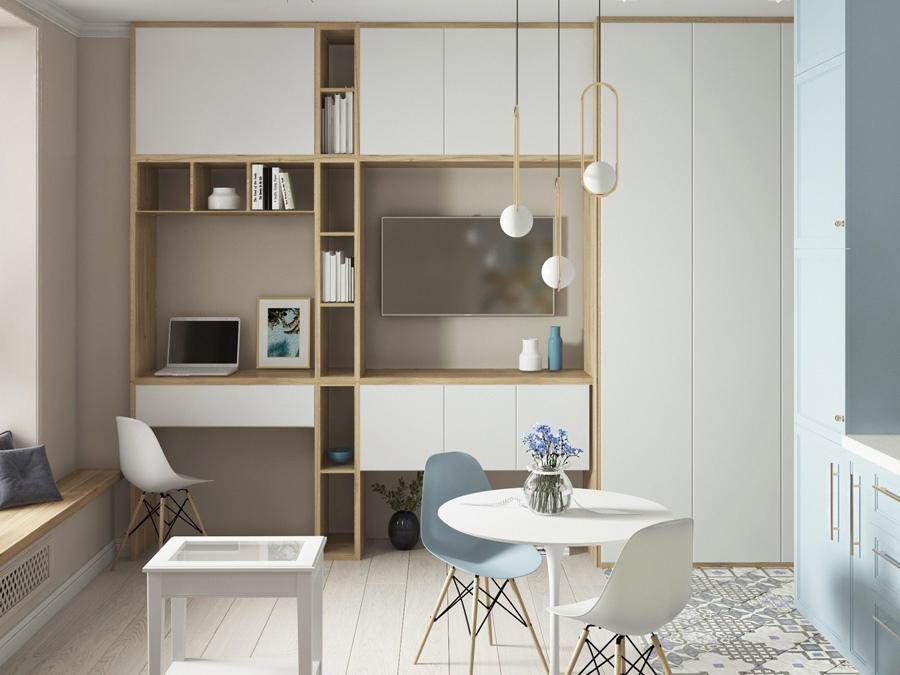 Проект малогабаритной квартиры-студии 21,5 кв.