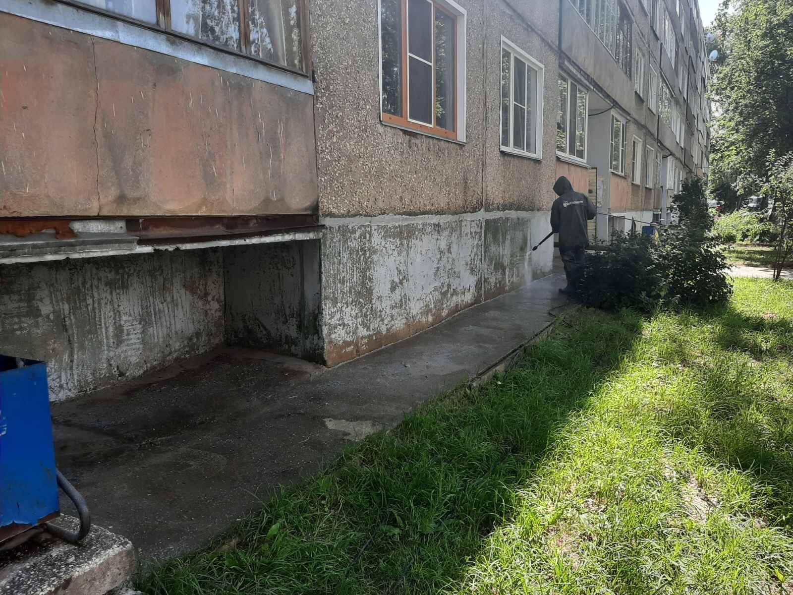 Проспект Строителей дом 36. Начат Кап /ремонт
