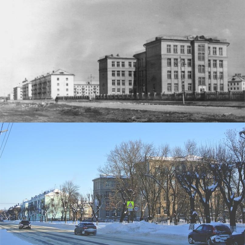Улица Жданова 1962 г. / Улица Московская 2021 г. (Фото ДО Салов Е.М.)