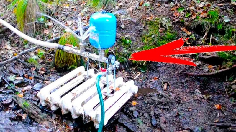 гидротаранный насос для колодца