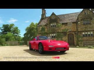 Forza Horizon 4 Mazda rx7 (сток ) №1 Покатушки