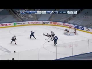 Elias Pettersson Scores With Fantastic Shot After Misplay By Blues (1)