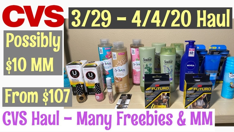 CVS 3 29 20 4 4 20 all FREE from $107 Excited 4 Coupons
