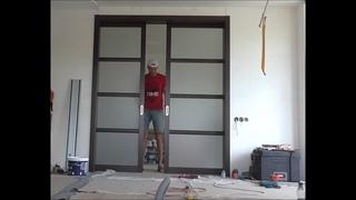 Установка раздвижной двойной межкомнатной двери , своими силами!