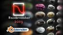 Nodevember - Simon Thommes - Procedural Shader Showreel (Blender)
