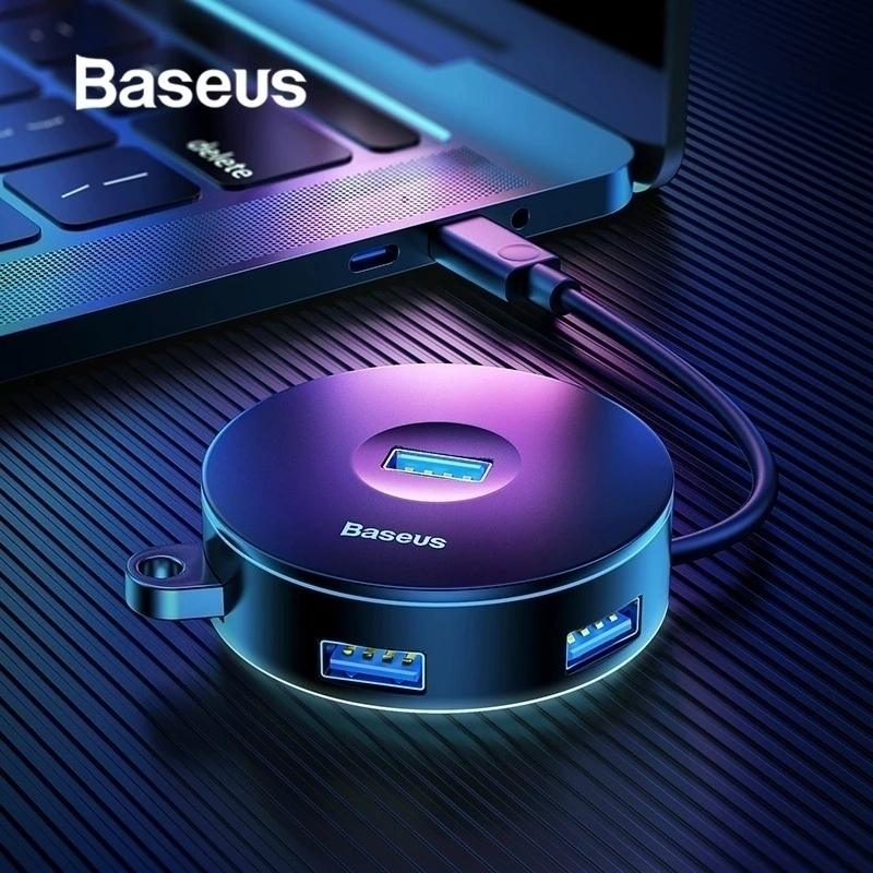 USB-хаб от Baseus Есть три выхода USB 20 один на USB 30 и разъм на micro-usb Есть модификация с type-C