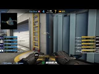 KPI Gaming versus The Dice. ESEA Season 34: Advanced Division - Europe