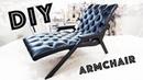 Кресло на металлокаркасе ARMCHAIR DIY своими руками on the metal frame