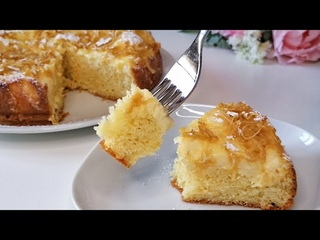 CAKE WITH LEMON AND APPLE🍏 CREAM - Perfect recipe to try now! #123