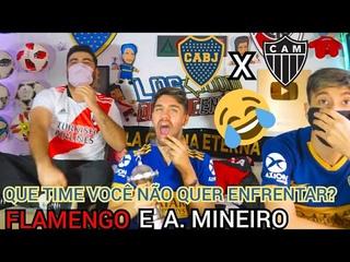 Reação Dos Torcedores Do Boca E River Ao Sair Atlético Mineiro No Sorteio Da Libertadores