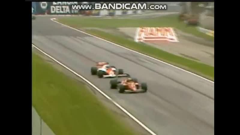 Imola-85, Senna, Alboreto, Prost, overtakes