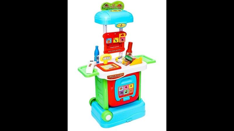 BAZUMI Игровой набор Касса с продуктами Супермаркет Магазин