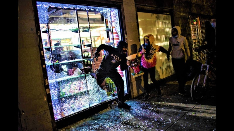 Looters Destroying N Y City Store owners in New York City begging and crying for looters to stop