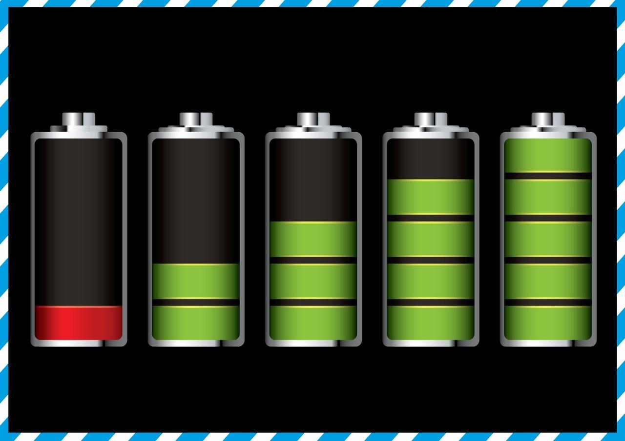 заряд батареи с изменением картинки вышеперечисленных