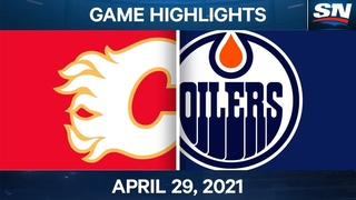 NHL Game Highlights | Flames vs. Oilers - Apr. 29, 2021