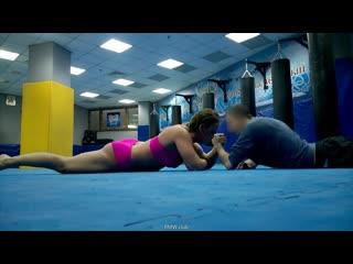 Mixed armwrestling and LC Miranda VS Sam