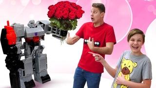 Роботы Трансформеры игры онлайн - Перепрошивка Десептиконов! Смешное видео шоу Полицейская Академия