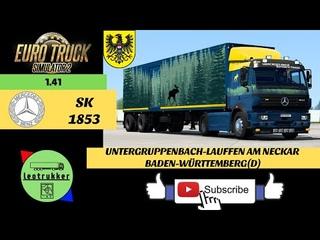 ETS 2 ●Mercedes SK 1853●Untergruppenbach-Lauffen,Baden-Württemberg(D)●Schwedischer Wald combo