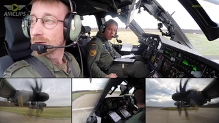 A400M Big Time POWER: Luftwaffe Takeoff from Wunstorf AFB  [AirClips]