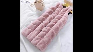 Шеран 2019 осень зима новый искусственный кроличий мех жилет пальто женское зимнее длинный тонкий искусственный меховые жилеты