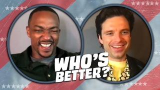 Anthony Mackie and Sebastian Stan Play WHO'S BETTER: Sam vs Bucky   Falcon and the Winter Soldier