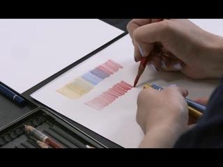 Обзор. Бумага для рисования и цветные карандаши: FC Polychromos,  Derwent Procolour, Мастер-класс НП