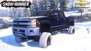 SnowRunner - CHEVROLET DURAMAX RORO CUSTOMS Driving In Winter On Snow And Ice