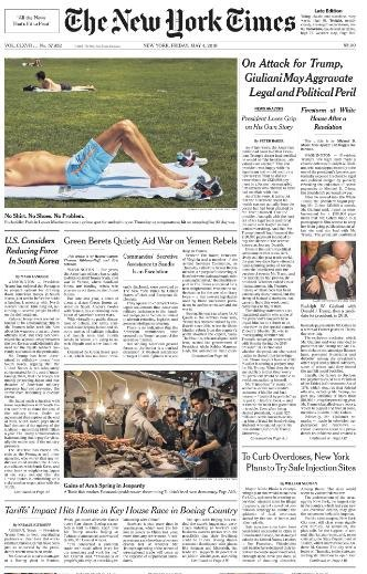 The New York Times - 4 May 2018