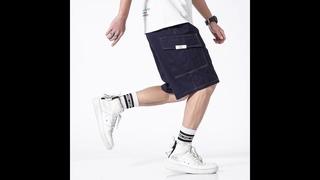 Мужские повседневные шорты iidossan, хлопковые шорты карго для бега, винтажные шорты большого размера, прямая поставка