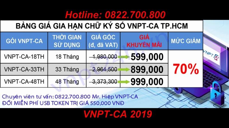 Chữ ký số VNPT-CA   Gia hạn chữ ký số VNPT tại thành phố Hồ Chí Minh 2019   Gia hạn tận nơi giảm 75