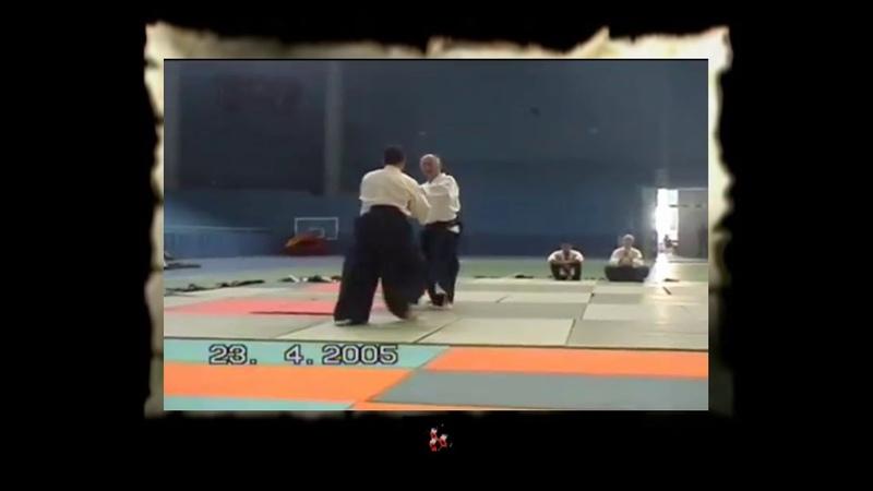 Aikibudo-09 kihon osae waza - 01 ushiro hiji kudaki 01