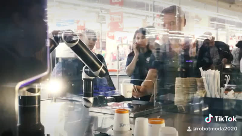 Робот Бариста на ваше Мероприятие Аренда Робот Мода robot coffee rent robotmoda