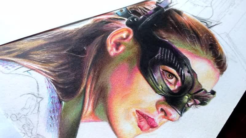 Часть 7 Рисунок плаката Готэм сити Женщина кошка