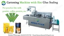 Automamtic Cartoning Machine with Hot Glue Sealing for Slim Strip Pouches Packing in Carton Box