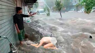 Europe is experiencing abnormal climate  changes! Eerie flood in Edinburgh, Scotland