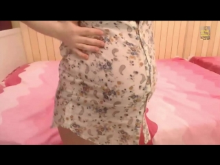 cute pregnant emilie in summer dress and end off 8th month
